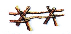 Rail Fence embroidery design