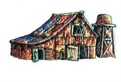 Old Barn embroidery design