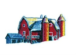 Big Red Barn embroidery design