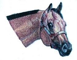 Buckskin Horse Head embroidery design