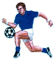 Male Soccer Player embroidery design