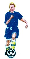 Female Soccer Player embroidery design