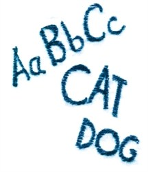 ABCs CAT DOG embroidery design