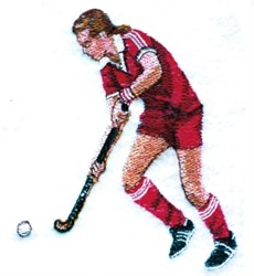 Field Hockey Player embroidery design