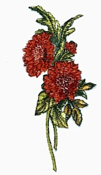 Chrysanthemums embroidery design