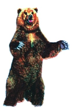 Grizzly embroidery design