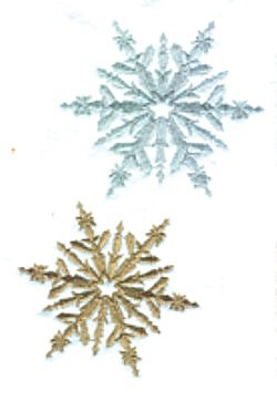 Two Snowflakes embroidery design