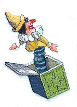 Jack in the Box embroidery design