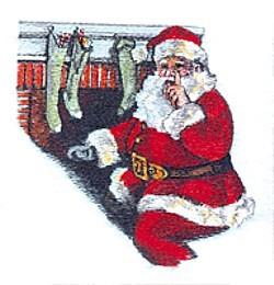 Santa Scene embroidery design