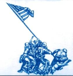 U.S.M.C. War Memorial embroidery design