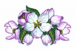 Apple Blossom Runner embroidery design