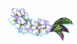 Cherry Blossom Runner embroidery design