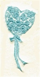 Flower Filled Heart embroidery design
