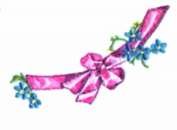 Ribbon embroidery design