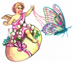Easter Chariot embroidery design