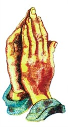 Praying Hands embroidery design