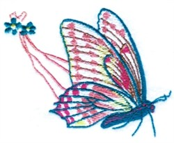 Easter Chariot Butterfly embroidery design