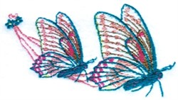 Easter Chariot Butterflies embroidery design