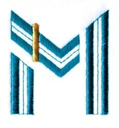 Stylized Alphabet M embroidery design
