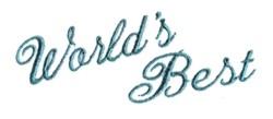 Worlds Best embroidery design