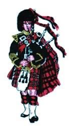 Scottish Bagpiper embroidery design
