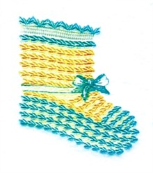 Baby Bootie embroidery design