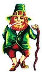 Leprechaun with Pipe embroidery design
