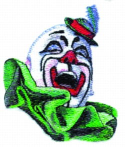 Laughing Clown embroidery design