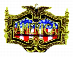 American Crest embroidery design