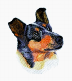 Smooth Collie embroidery design