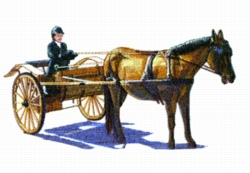 Horse & Cart embroidery design