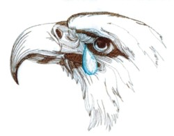 Eagle with Tear embroidery design