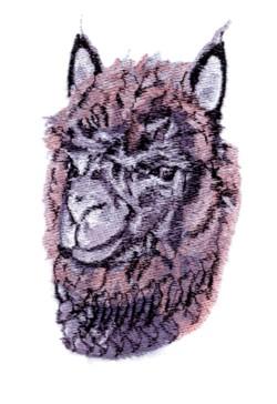 Dark Alpaca embroidery design