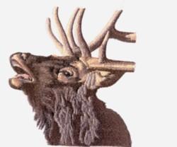 Bugling Elk embroidery design