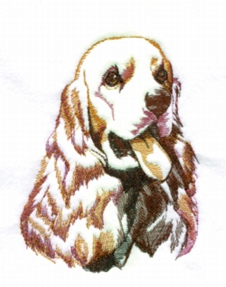 Cocker Spaniel embroidery design