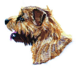 Sm. Norfolk Terrier embroidery design