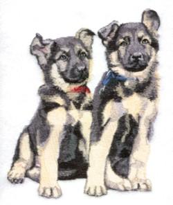 German Shepherd embroidery design