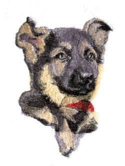Shepherd Puppy embroidery design