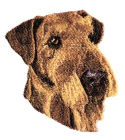 Airedale Terrier embroidery design