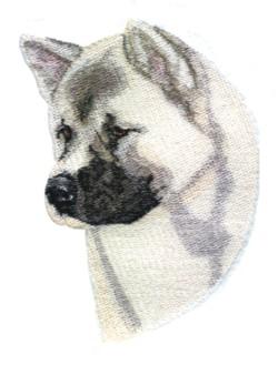 Akita embroidery design