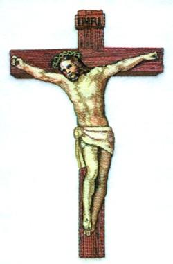 Crucifixion embroidery design