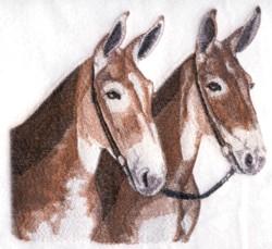 Mule Team embroidery design