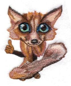 Road Kill Fox embroidery design
