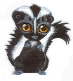 Skunk embroidery design