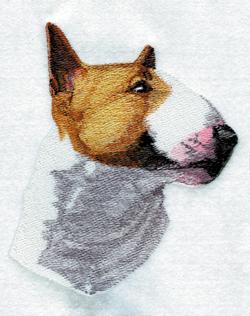 Bull Terrier embroidery design