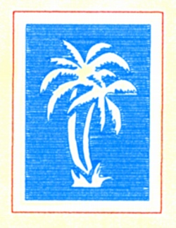 Bordered Palm embroidery design