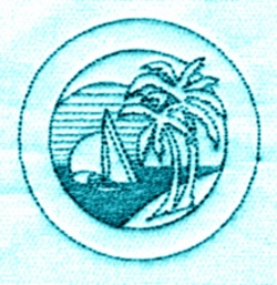 Palm Sailboat embroidery design