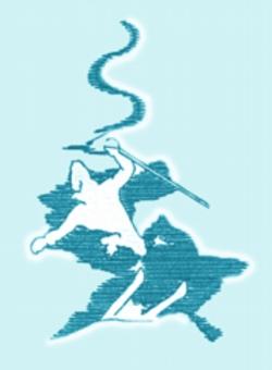 Powder Skier embroidery design