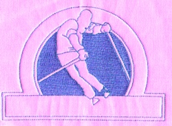 Ski Club embroidery design