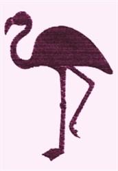 Flamingo Silhouette embroidery design